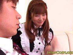 Weird maid face jizzed
