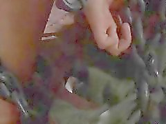 çıplak pislik ile Maskeli tatlı vahşi spanking alır