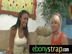 Strapon lesbian pussy interracial sex 1