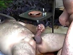 Outdoor polarbear cocksucked até cumming