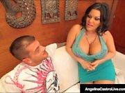Valtava boobed Kuuban Angelina Castro perseestä Spanish Cock!
