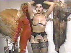 Горячий брюнетка Threesome Черт 1990s Классический