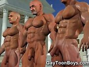 3D Gays with Big Cocks and Muscles!