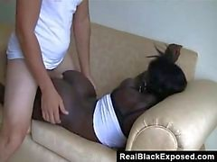 Ebony Slut Trying Out Some White Meat
