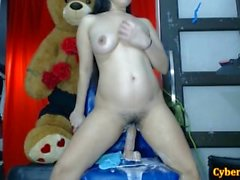 Asian Babe Cum EXTREME Showering