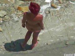 Geile Hot Naked FKK-Strand Damen Voyeur Spycam Video