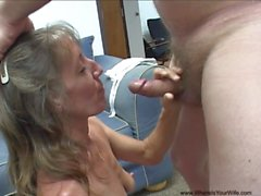 Abusing Grannie's Tight Butt Hole