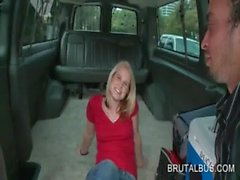 Appealing blonde dared to get nasty in the sex bus