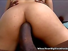 Busty Black Anal Slut Creampie By Monstercock