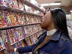 Jada Fire fucking stranger at video store