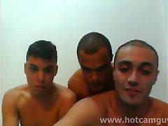 Webcam brasileña en tres con Cum