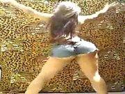 Calda ragazza di dancing il funk