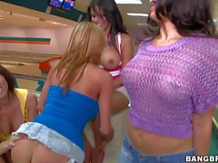 Bowling with Rachel Starr Diamond Kitty Alexis Fawx Brandy Aniston and Anastasia Morna