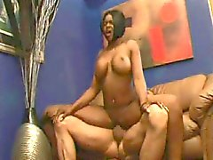 Black girl is fucked by a white guy and loves it