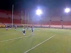 Fussballmannschaft Gangbang Eine Cheerleader