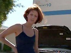 Trista Post is a skinny redhead