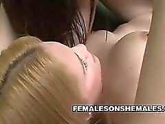 Female Teases Shemale Cock