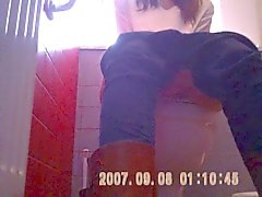 young shaved pussy hidden cam in red toilets sazz