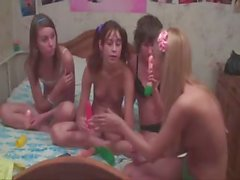 Four czech teens in live show
