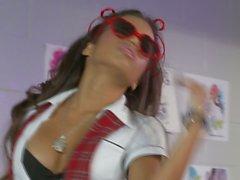 Латина Лупе Fuentes спермой на очки