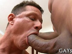 Hot guy loves this monster cock deep in his booty