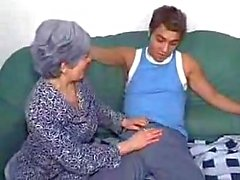 Sex hungry granny gets anal fucked