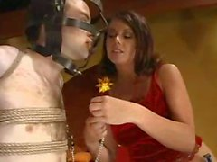 Mistress Penny Flame has some fun with her slave