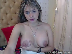 Gracious fake large breasts camgirl web camera squirt camshow