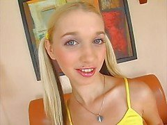 Blonde with pigtails teens cute