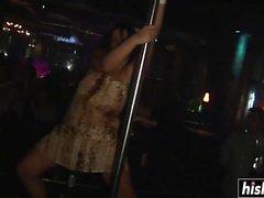 Garotas sensuais se divertem na festa