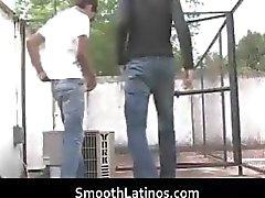 Hete gay Latino's hebben homo porno