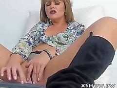 Beautiful cute wench flashing on web camera show