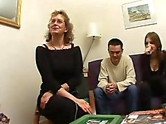 French mature Francoise fucked in a threesome
