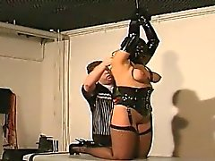 Tits action Bondage Avec Whore Nasty
