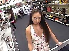 Ex dominatrix pawns her stuff and fucked at the pawnshop