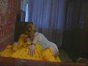 Blonde mom & son