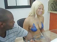 ROME Destiny Dream gets Piped by two Big Black Dicks