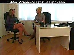 Ofisinde çorap lezbiyenler