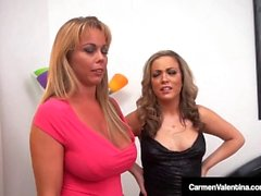 Carmen Valentina & Amber Lynn Bach Fuck 2 Guys In Hot 4Way!