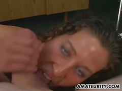 Amateur Freundin Blasen und titjob mit Gesichts