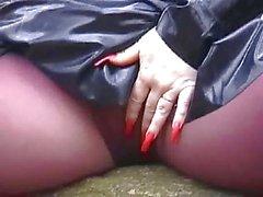 fille de de la en latex ongles longs et de Les bottes sexy des