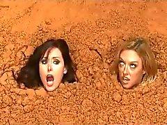 Due delle donne busty Nude di Quicksand della
