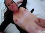 Mommas aged pussy getting fuck like a spread eagle