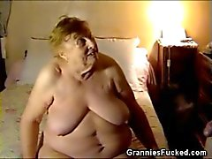 Chubby caralho Mamando Granny