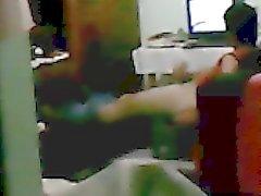 Dik str8 Kurmak Kiralık Ev Arkadaşı wanking bir casus tezgâhtarı yakaladım