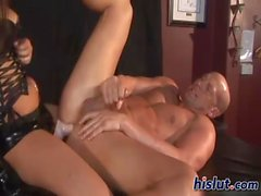 Amazing looker rides a throbbing manhood