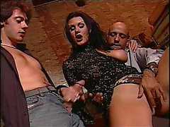 Retro anal 3some breasty karma