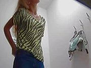 young czech girl fitting bra and panties in linger