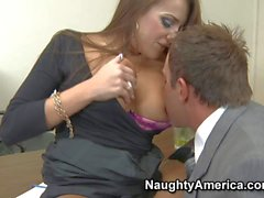 Hot office whore Nika Noir gets slammed