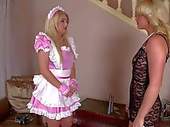 Maid gets spanked and ball gagged by Kathia Nobili